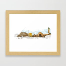 Helsinki Central Railway Station Framed Art Print