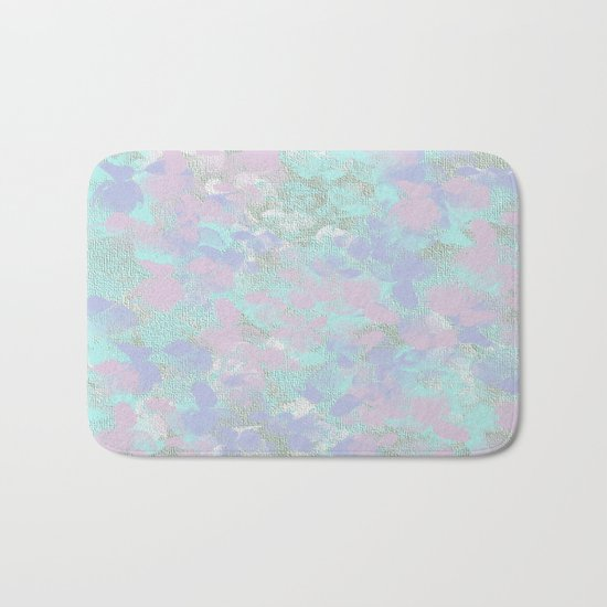Soft Painterly Floral Abstract Bath Mat