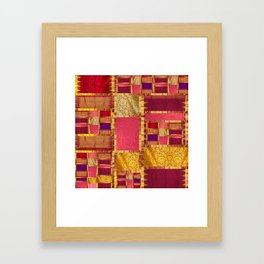 """""""Exotic fabric, ethnic and bohemian style, patches"""" Framed Art Print"""