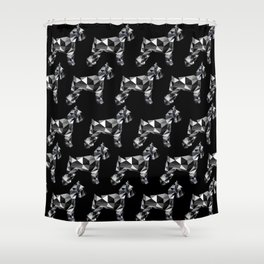 poli schnauzer Shower Curtain