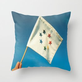 Earth Flag Throw Pillow