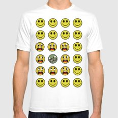 Attack of the Zombie smiley! MEDIUM Mens Fitted Tee White