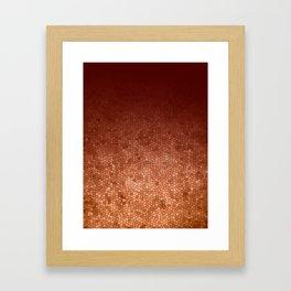 Copper Admiration - Copper Orange Warm Mosaic Framed Art Print