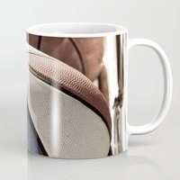 basketball Mugs featuring Basketball by SShaw Photographic