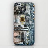 cityscape iPhone & iPod Skins featuring Cityscape by Maureen Mitchell