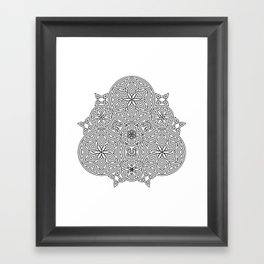 Balanced Flowering Hexad Framed Art Print