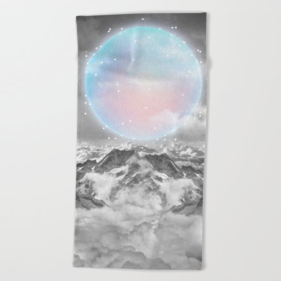 Places Neither Here Nor There (Guardian Moon) Beach Towel