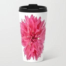 Pink Cornflower Travel Mug