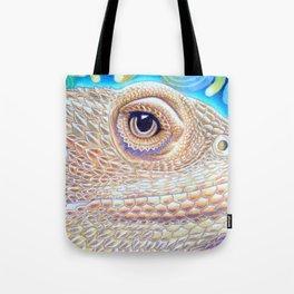 Dragon Star, Bearded Dragon Lizard Art Tote Bag