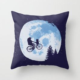 Journey To The Moon Throw Pillow
