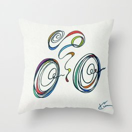 Bicycle, Cycling - Zoomin' Through Throw Pillow