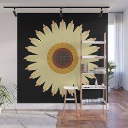 Sunflower Black Wall Mural