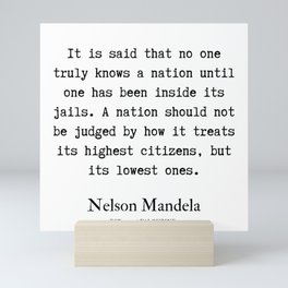 19   | Nelson Mandela  Quotes | 190818 Mini Art Print