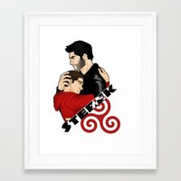 sterek Framed Art Prints featuring Sterek by adorible