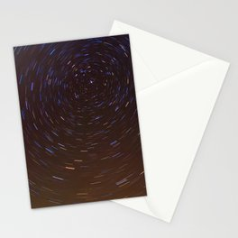 Stars trails Stationery Cards