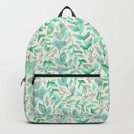 Eucalyptus Garden on Cream Backpack