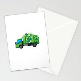 Clover Truck St Patricks Day Full Green Shamrock Stationery Cards