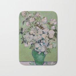 Vincent van Gogh Vase with Pink Roses Bath Mat