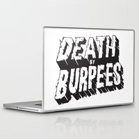 crossfit Laptop & iPad Skins featuring Death by Burpees by Nikkers