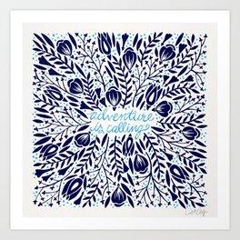 Adventure is Calling – Porcelain Palette Art Print
