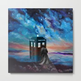 TARDIS DOCTOR WHO PAINT Metal Print
