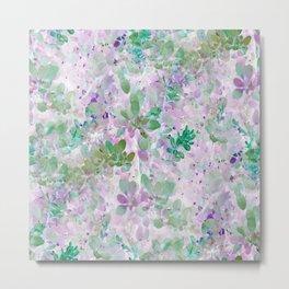 Watercolor Leaves - Seamless IA Metal Print
