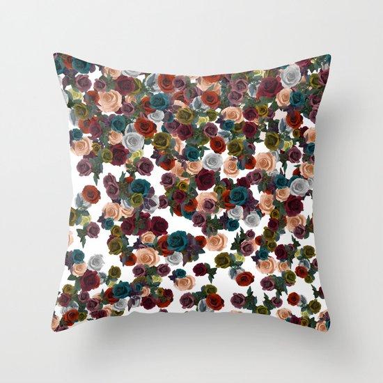 mini floral Throw Pillow