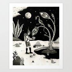 Lucrative Lachrymation  Art Print