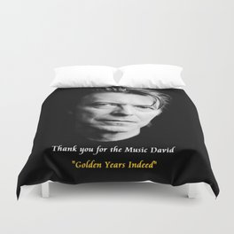 David Bowie,Golden Years Tribute, A Music Legend Duvet Cover