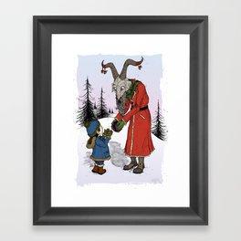 The Yule Goat Framed Art Print