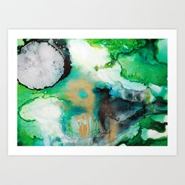 Rainbow End Ink Abstract Painting Art Print