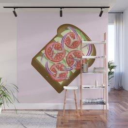 Avocado Tomato sandwich Wall Mural