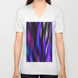 Re-Created  Feather ix by Robert S. Lee Unisex V-Neck