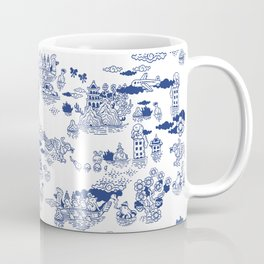 FLOOD IN ANTIQUE CHINESE PORCELAIN Coffee Mug