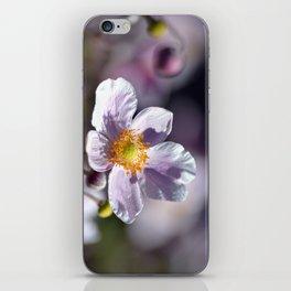 Pretty in White and Purple iPhone Skin
