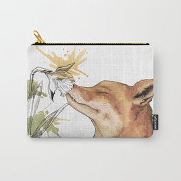 Fox sniffing a daffodil Carry-All Pouch