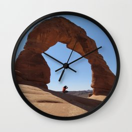 Framed - Delicate Arch Wall Clock