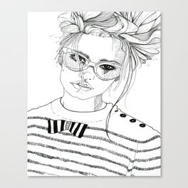 Stripe with Me Canvas Print