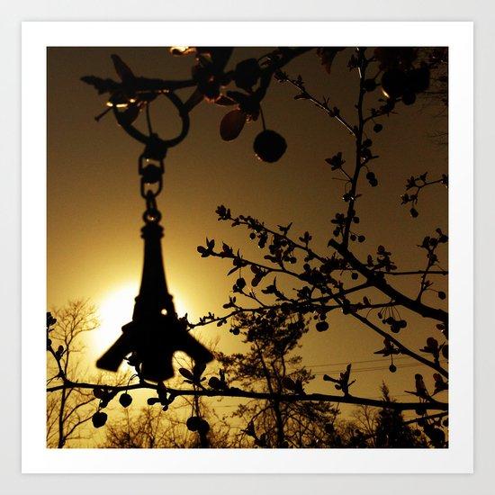 Shadow of the Parisian Art Print