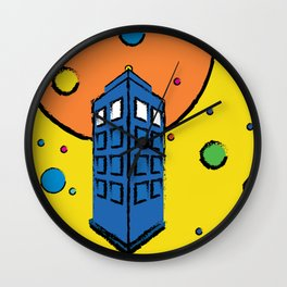 Pop Art Tardis Wall Clock