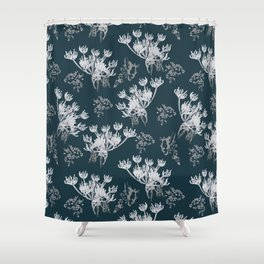 Icy flowers Shower Curtain