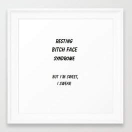 resting bitch face Framed Art Print