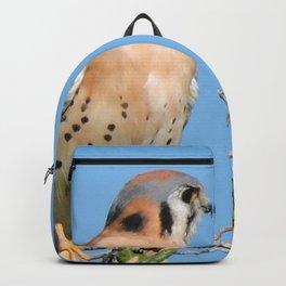 American Kestrel on Watch in La Verne Backpack