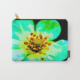 Solarized Strawberry Flower Carry-All Pouch