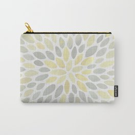 Floral Bloom, Abstract Watercolor, Yellow and Gray, Floral Prints Carry-All Pouch
