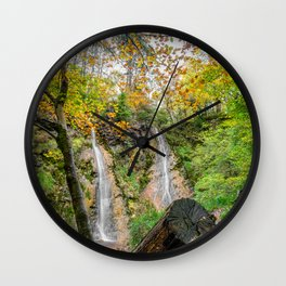 Autumn Waterfall Wall Clock