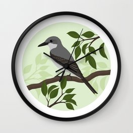 Gray Kingbird  Wall Clock