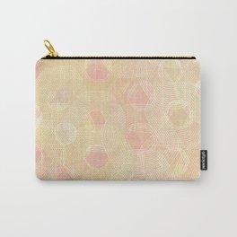 Peachy Keen Hexagons Carry-All Pouch