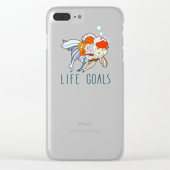 Life Goals Clear iPhone Case