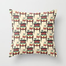 bedtime story pattern Throw Pillow